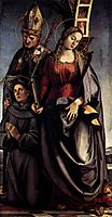St. Augustine Altarpiece (right wing), 1498, signorelli