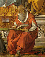 St. Jerome (detail from Virgin Enthroned with Saints), signorelli