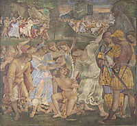 The Triumph of Chastity - Love Disarmed and Bound, 1509, signorelli