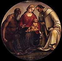 Virgin and Child with Sts Jerome and Bernard of Clairvaux, 1493, signorelli