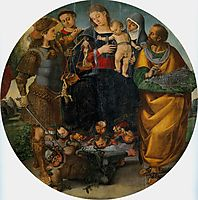 Virgin and Child with Sts Michael, Vincent of Saragozza, Margaret of Cortona and Mark, c.1512, signorelli