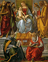 Virgin Enthroned with Saints, signorelli