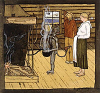 Devil by the Pot, 1897, simberg