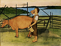 Morning Milking, 1895, simberg