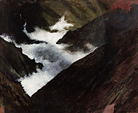 Mountain Stream in Caucasia, 1899, simberg