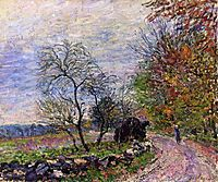 Along the woods in Autumn, 1885, sisley