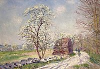 Along the Woods in Spring, 1889, sisley