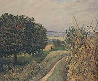 Among the Vines, Louveciennes, 1865, sisley