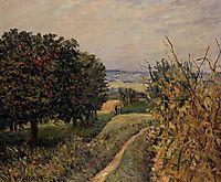 Among the Vines near Louveciennes, 1874, sisley