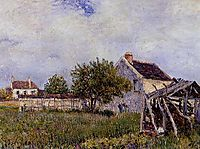 An Old Cottage at Sablons, 1885, sisley