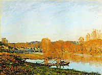 Autumn Banks of the Seine near Bougival, 1873, sisley