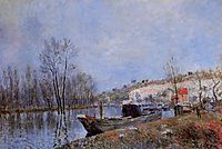 Banks of the Loing towards Moret, 1883, sisley