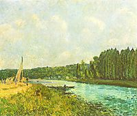 The Banks of the Oise, 1878, sisley