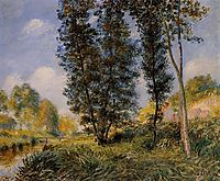 Banks of the Orvanne, 1890, sisley