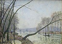 The Banks of the Seine in Autumn, sisley