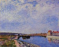 The Barge Port and Saint Mammes, 1884, sisley