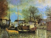 Barges on the Saint Martin Canal, c.1872, sisley