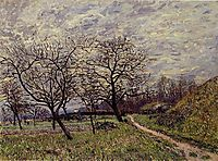 Between Veneux and By December Morning, 1882, sisley