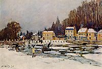 The Blocked Seine at Port Marly, 1876, sisley