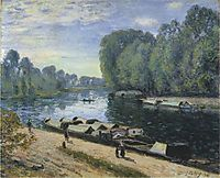 Boats on the Loing River, 1895, sisley
