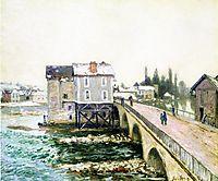 The Bridge and Mills of Moret, Winter s Effect, 1890, sisley