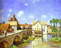The Bridge at Moret, 1893, sisley
