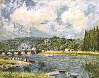 The Bridge of Sevres, 1877, sisley