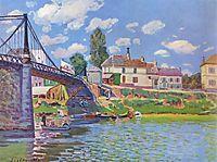 Bridge at Villeneuve-la-Garenne, 1872, sisley