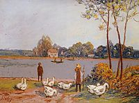 By the River Loing, c.1896, sisley