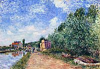 Canal du Loing Chemin de Halage, 1882, sisley