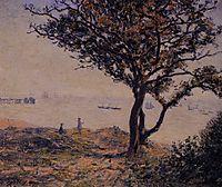 A Cardiff Shipping Lane, 1897, sisley