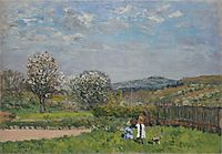 Children Playing in the Fields, 1879, sisley