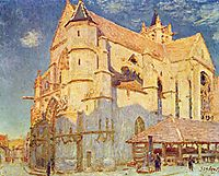 Church of Moret, 1893, sisley