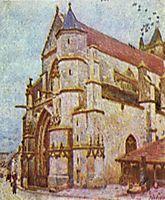 Church of Moret, 1893, sisley
