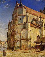 The Church at Moret in Morning Sun, 1893, sisley