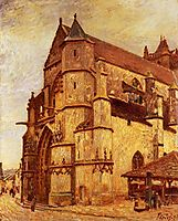 The Church at Moret, Rainy Morning, 1893, sisley