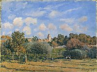 Church at Noisy Le Roi in Autumn, 1874, sisley