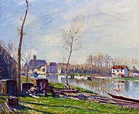 Construction Site at Matrat, Moret sur Loing, 1888, sisley