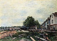 Construction Site at Saint Mammes, 1880, sisley