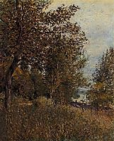 A Corner of the Roches Courtaut Woods, June, 1884, sisley