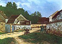 DorfstrasseinMarlotte, 1866, sisley