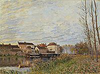 Evening in Moret, End of October, 1888, sisley