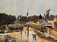 Fete Day at Marly le Roi (The Fourteenth of July at Marly le Roi), 1875, sisley