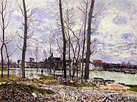 Flood at Moret sur Loing, 1888, sisley