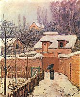 Garden in Louveciennes in the Snow, 1874, sisley