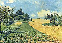 Grainfieldson thehills ofArgenteuil, 1873, sisley