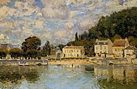 Horses being Watered at Marly le Roi, 1875, sisley