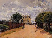 Inn at East Molesey with Hampton Court Bridge, 1874, sisley