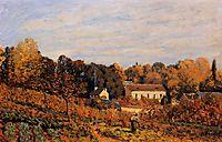 Kitchen Garden at Louveciennes, 1873, sisley