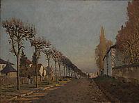 The lane of the Machine, 1873, sisley